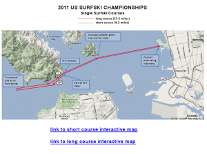 US Surfski Champs Race Course 2011